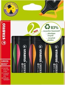 Stabilo Green Boss sorted, 4 pieces set (6070/4)