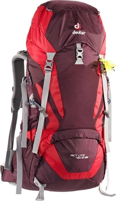 Deuter ACT Lite 45+10 SL aubergine/fire (Damen) (3340215-5522)