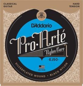 D'Addario Pro-Arté Black nylon Core, Hard Tension (EJ50)