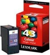 Lexmark 43 Druckkopf mit Tinte farbig (18Y0143/18Y0143E) -- via Amazon Partnerprogramm