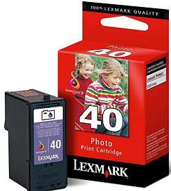Lexmark 40 Druckkopf mit Tinte farbig photo (18Y0340)