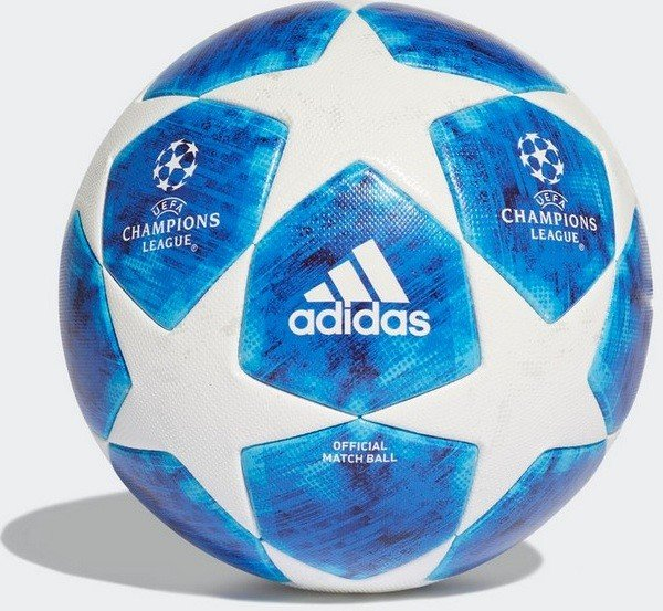 Adidas Fussball Finale 18 Ball White Football Blue Bright