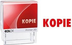 COLOP Printer 20 LGT Textstempel KOPIE, 38x14mm, rot (100671)
