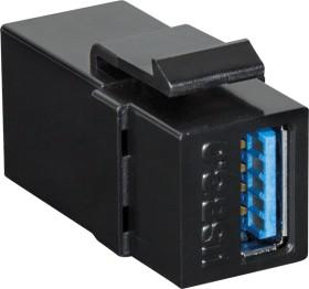LogiLink Keystone Modul USB-A 3.0 Buchse via USB-A 3.0 Buchse, schwarz (NK0015B)