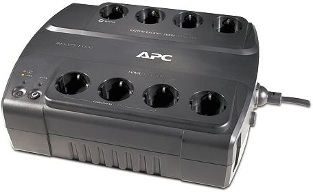 APC Back-UPS ES 550VA power strip, USB (BE550G-GR)