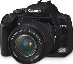 Canon EOS 400D schwarz mit Objektiv EF-S 18-55mm 3.5-5.6 (1237B011)