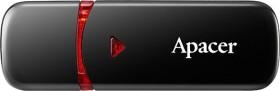 Apacer AH333 schwarz 64GB, USB-A 2.0 (AP64GAH333B-1)