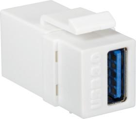 LogiLink Keystone Modul USB-A 3.0 Buchse via USB-A 3.0 Buchse, weiß (NK0015)