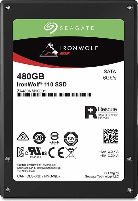 Seagate IronWolf 110 NAS SSD +Rescue 480GB, SATA 6Gb/s (ZA480NM10001/ZA480NM10011)