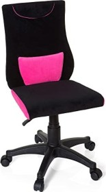 HJH Office Kiddy Pro Kinderdrehstuhl, schwarz/pink (670490)