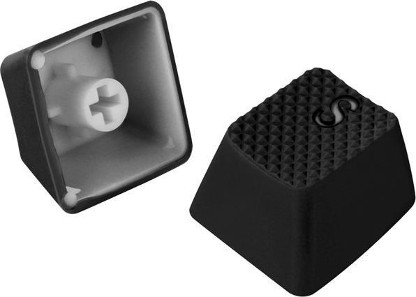 Sharkoon gummiertes Keycap Set, 18 Tasten, schwarz