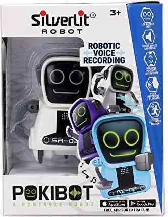 Roboter Rc Silverlit Pokibot Mini Tanzt Spricht Sound 8cm Weiß Roboter