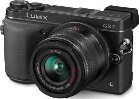 Panasonic Lumix DMC-GX7 schwarz mit Objektiv Lumix G Vario 14-42mm 3.5-5.6 OIS (DMC-GX7K)