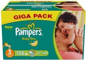 Pampers Baby-Dry Gr.3 Einwegwindel, 4-9kg, 156 Stück
