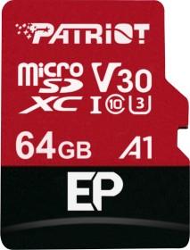 Patriot EP R90/W80 microSDXC 64GB Kit, UHS-I U3, A1, Class 10 (PEF64GEP31MCX)