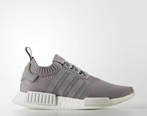 adidas NMD R1 Primeknit grey three/white (Damen) (BY8762)