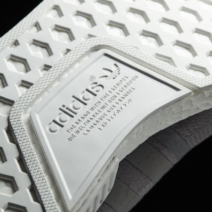 Adidas NMD R1 primeknit gris tres / blanco (damas) (by8762) a partir