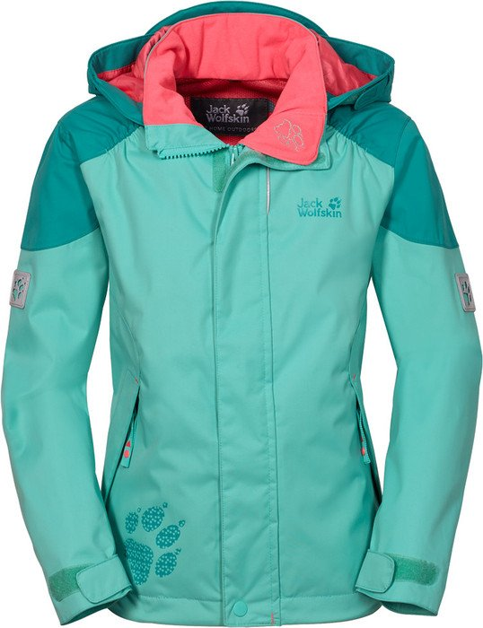super popular 26e95 38339 Jack Wolfskin Girls Emerald 3 Jacke pool blue ...