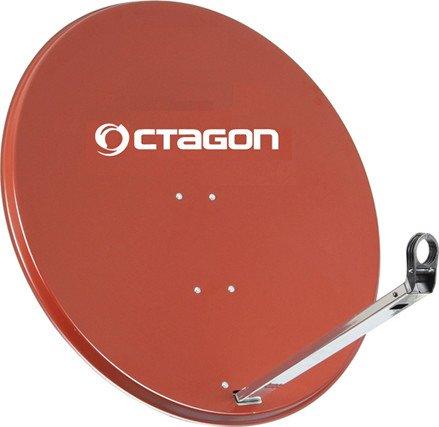 Octagon Sat-Antenne Stahl 65cm ziegelrot (OS65SZ)