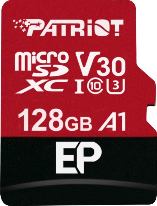 Patriot EP R100/W80 microSDXC 128GB kit, UHS-I U3, A1, Class 10 (PEF128GEP31MCX)