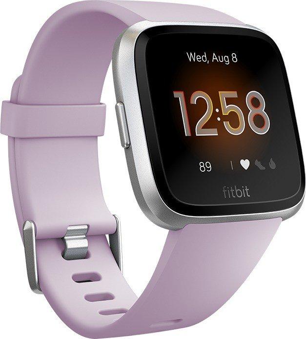 Fitbit Versa Lite Edition Aktivitäts-Tracker lilac/silver (FB415SRLV)