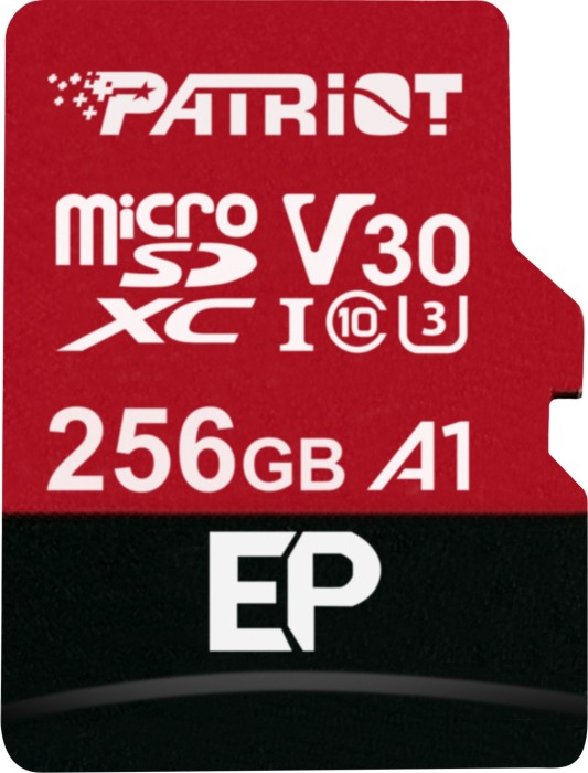 Patriot EP R100/W80 microSDXC 256GB Kit, UHS-I U3, A1, Class 10 (PEF256GEP31MCX)