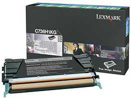 Lexmark Return Toner C736H1KG schwarz
