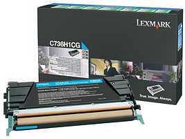 Lexmark C736H1CG Return Toner cyan