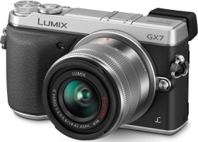 Panasonic Lumix DMC-GX7 silber mit Objektiv Lumix G Vario 14-42mm 3.5-5.6 OIS (DMC-GX7K)