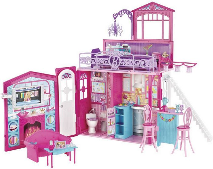 mattel barbie family glam haus r4186 in spielzeug. Black Bedroom Furniture Sets. Home Design Ideas