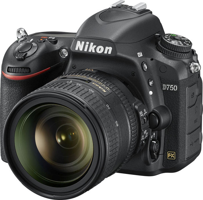 Nikon D750 black with lens AF-S VR 24-85mm 3.5-4.5G ED (VBA420K001)