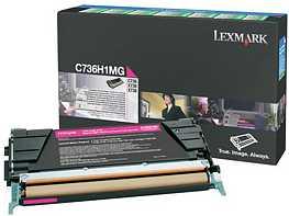 Lexmark Return Toner C736H1MG magenta