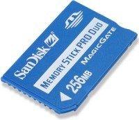SanDisk Memory Stick (MS) Pro Duo 256MB (SDMSPD-256-E10) -- © SanDisk