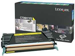 Lexmark Return Toner C736H1YG gelb