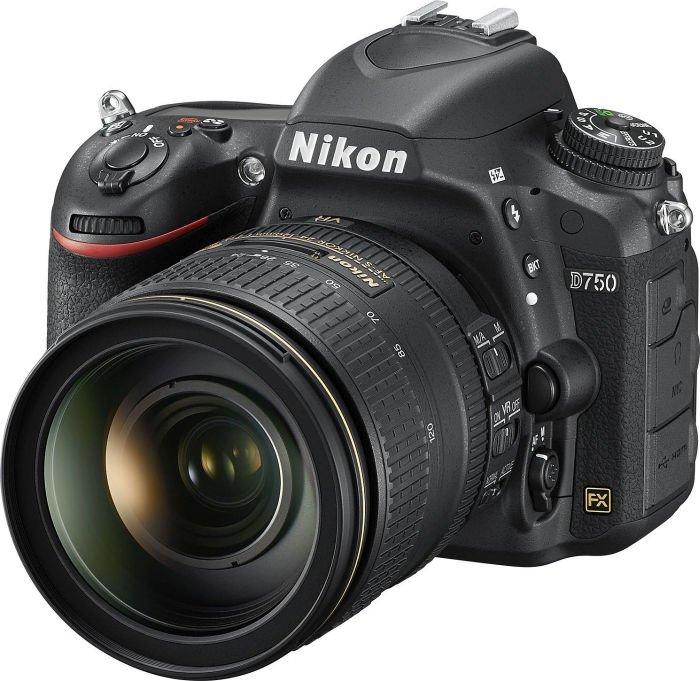 Nikon D750 black with lens AF-S VR 24-120mm 4.0G ED (VBA420K002)