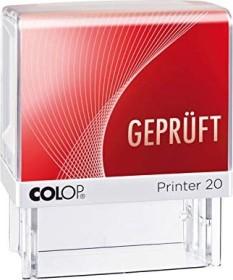 COLOP Printer 20 LGT Textstempel GEPRÜFT, 38x14mm, rot (151609)
