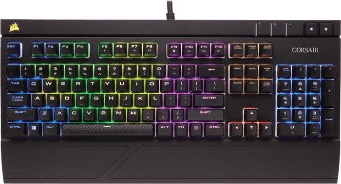 Corsair Strafe RGB, MX-Silent-RGB-Red, USB, ES (CH-9000121-ES)