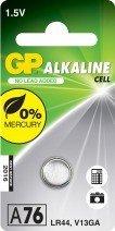 GP Batteries Alkaline A76 (LR44/LR1154), 4-pack (05076AC4)