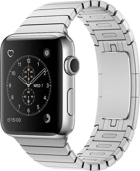 Apple Watch Series 2 Edelstahl 42mm silber mit Gliederarmband silber
