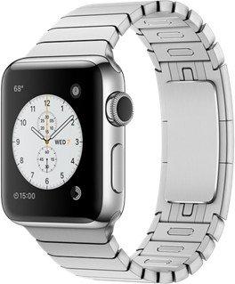 Apple Watch Series 2 Edelstahl 38mm silber mit Gliederarmband silber
