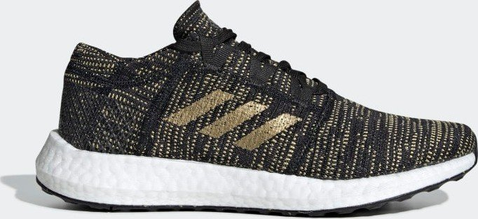 7a8aa71a0 adidas Pure Boost Go core black gold metallic carbon (Damen) (F36346