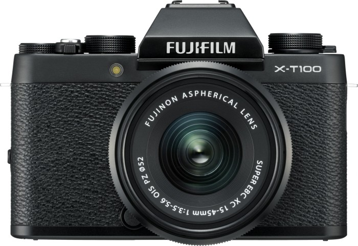 Fujifilm X-T100 black with lens XC 15-45mm OIS PZ and XC 50-230mm OIS II (4006804)