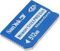 SanDisk Memory Stick (MS) Pro Duo 512MB (SDMSPD-512-E10) -- © SanDisk