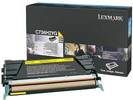 Lexmark Toner C736H2YG gelb