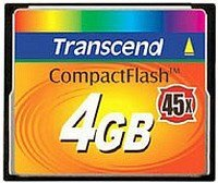 Transcend CompactFlash Card (CF) 45x 4GB (TS4GCF45)
