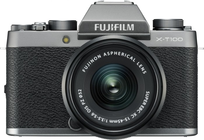 Fujifilm X-T100 silver with lens XC 15-45mm OIS PZ and XC 50-230mm OIS II (4006803)