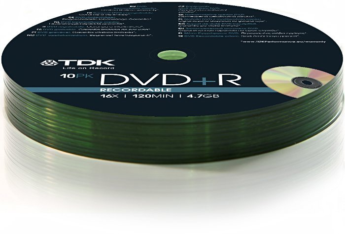 TDK DVD+R 4.7GB 16x,  10er Shrink (T78648)