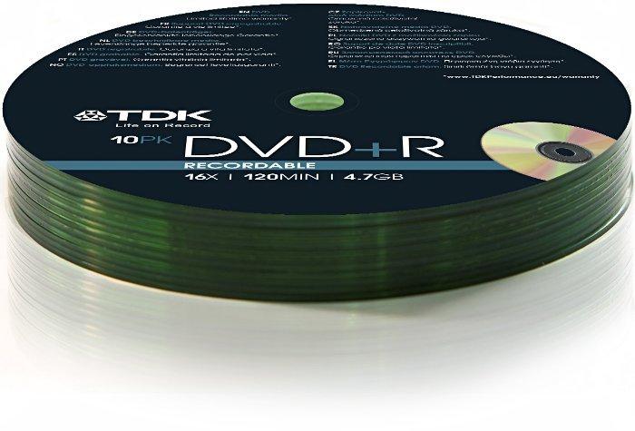 TDK DVD+R 4.7GB 16x, 10er Shrink (T78648)