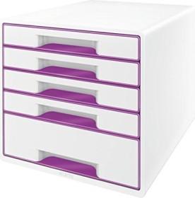 Leitz Wow Cube mit 5 Laden violett (52142062)