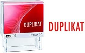 COLOP Printer 20 LGT Textstempel DUPLIKAT, 38x14mm, rot (152224)